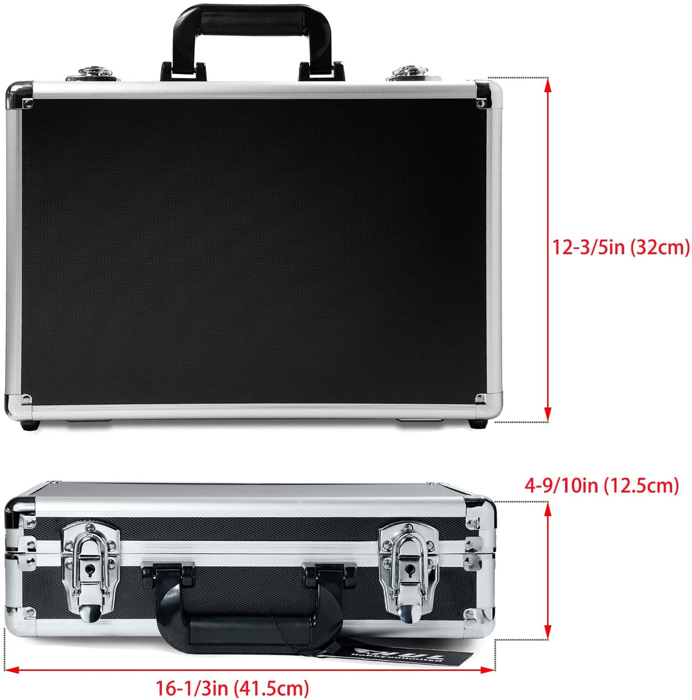 HUL 18in Two-Tone Aluminum Case with Customizable Pluck Foam Interior for Test Instruments Cameras Tools Parts and Accessories