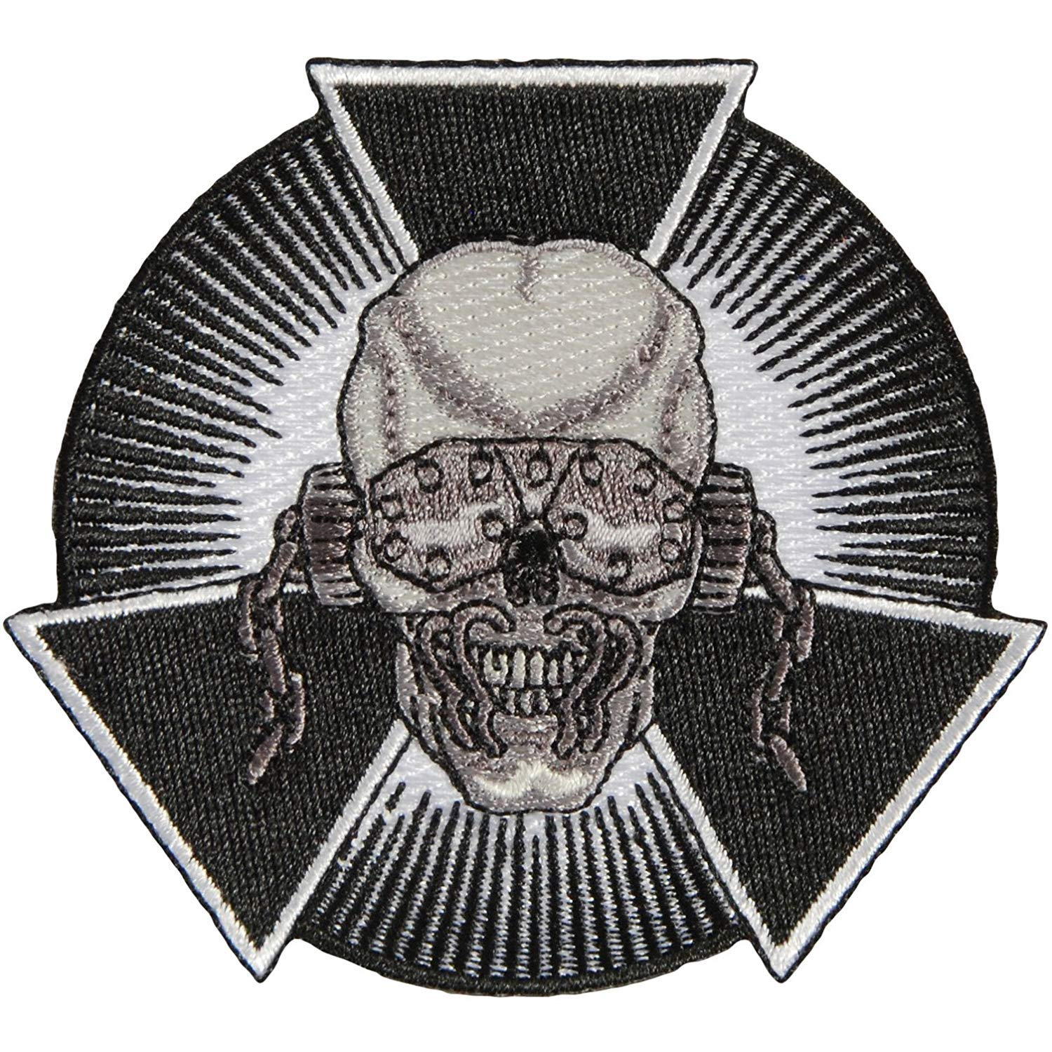 MEGADETH Skull Burst, Officially Licensed Classic Rock Artwork, High Quality Iron-On / Sew-On, 3' x 3' Embroidered PATCH PARCHE 3 x 3 Embroidered PATCH PARCHE Officially Licensed & Trademarked Products P-4250