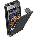 mumbi Etui à clapet pour Huawei Ascend Y300 - Étui de protection à rabat Flip Style noir