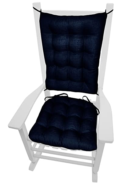 Barnett Products Porch Rocker Cushions Rave Indigo Blue Size Extra Large Indoor Outdoor Fade Resistant Mildew Resistant Latex Foam Fill