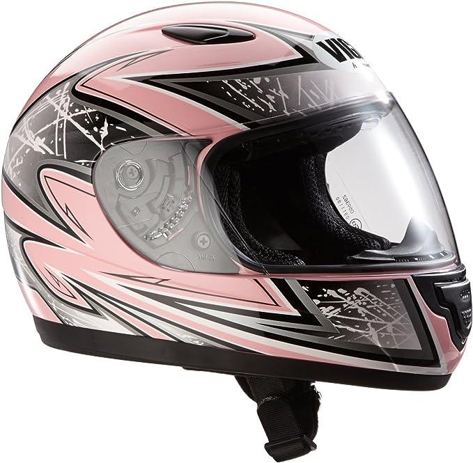 Protectwear Sa03 Pk Kinder Motorradhelm Integralhelm Pink Silber Auto
