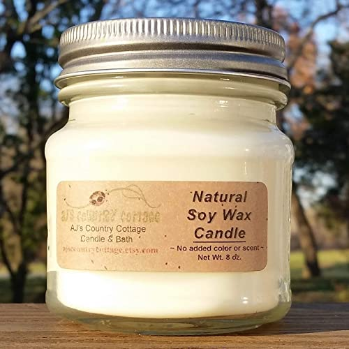 Pure No Scent Unscented Soy Candle 9oz Fragrance Free Vegan Health Sensitive 100/% Natural Wax Naked Handmade Allergy Friendly