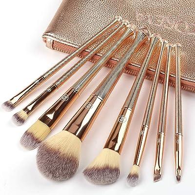 ZOREYA Makeup Brush Set,8Pcs Premium Synthetic Makeup Brush Set