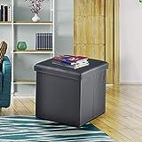 Nilkamal Large Foldabe Ottoman Storage Box cum Stool - Ruby (Black)