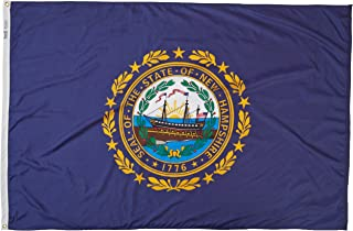 product image for Annin Flagmakers Model 143470 New Hampshire State Flag 4x6 ft. Nylon SolarGuard Nyl-Glo 100% Made in USA to Official State Design Specifications.
