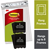 Command, PH209BLK-16NA, Picture Hanging Strips, 8 Medium Pairs and 8 Large Pairs, Black, in Easy-to-Open Packaging