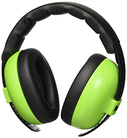 4d5a601a5d2 Amazon.com   Baby Banz Earmuffs and Infant Hearing Protection and  Sunglasses Combo 0-2 Years (Lime)   Baby