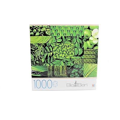 Big Ben 'Greens' 1000 Piece Jigsaw Puzzle Milton Bradley: Toys & Games