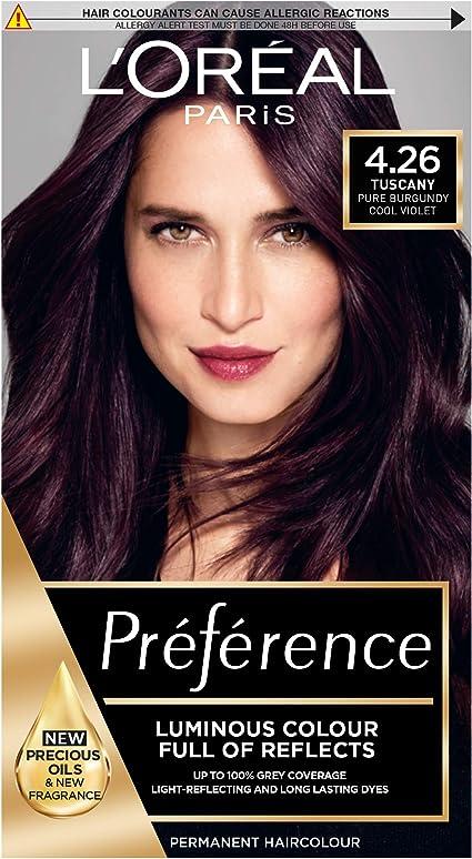Preference Infinia 4.26 - Tinte de cabello Pure Burgundy.