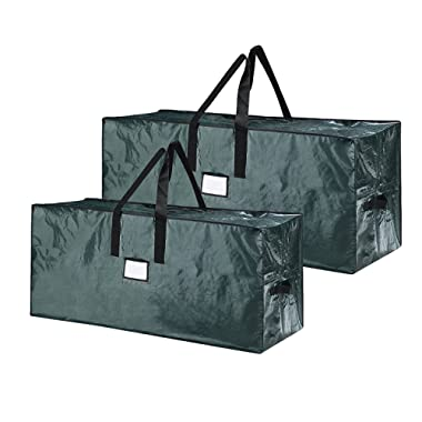 5074 Elf Stor Green Christmas Tree Bag Holiday Set for Two 9 Foot Trees Or One Larger