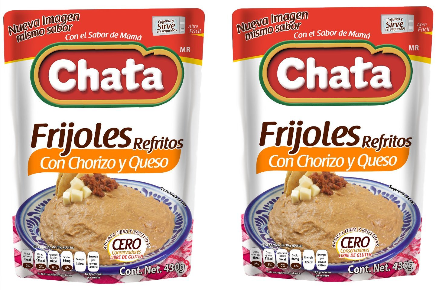 Amazon.com : Chata Frijoles con Chorizo y Queso - Mexican Beans - 15.1 ouces (Pack of 2) : Grocery & Gourmet Food