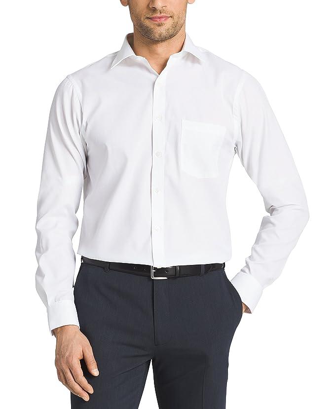 Van Heusen Men's Pincord Regular Fit Solid Spread Collar Dress ...