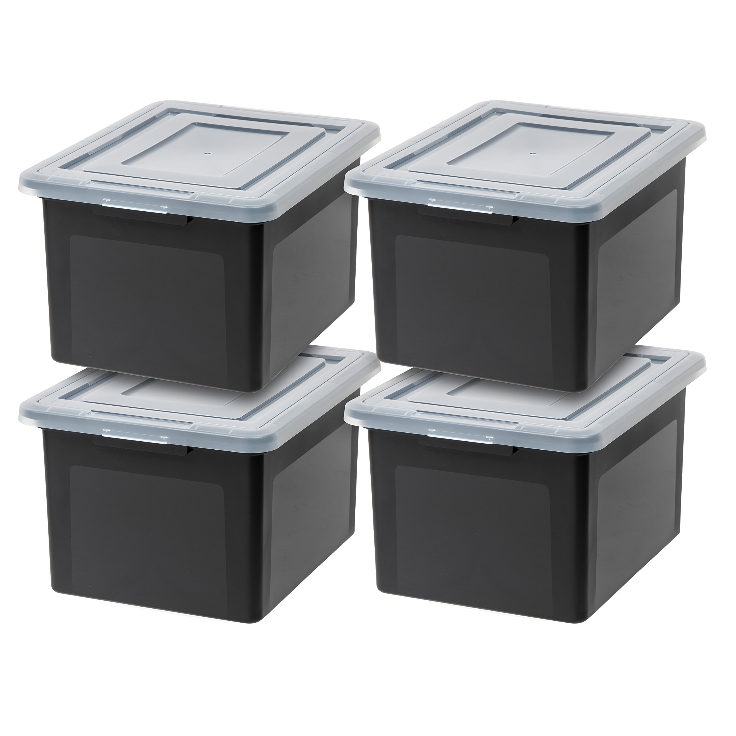 IRIS USA, Inc. R-FB-21E Letter and Legal Size File Box, Black, 4 Pack by IRIS USA, Inc.