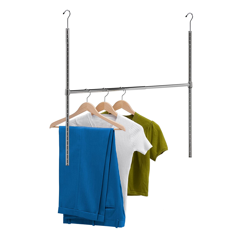 Amazon.com: Honey Can Do HNG 01816 Chrome Adjustable Hanging Closet Rod:  Home U0026 Kitchen