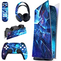 PlayVital Multidimensional Galaxy Full Set Skin Decal for PS5 Console Digital Edition, Sticker Vinyl Decal for…