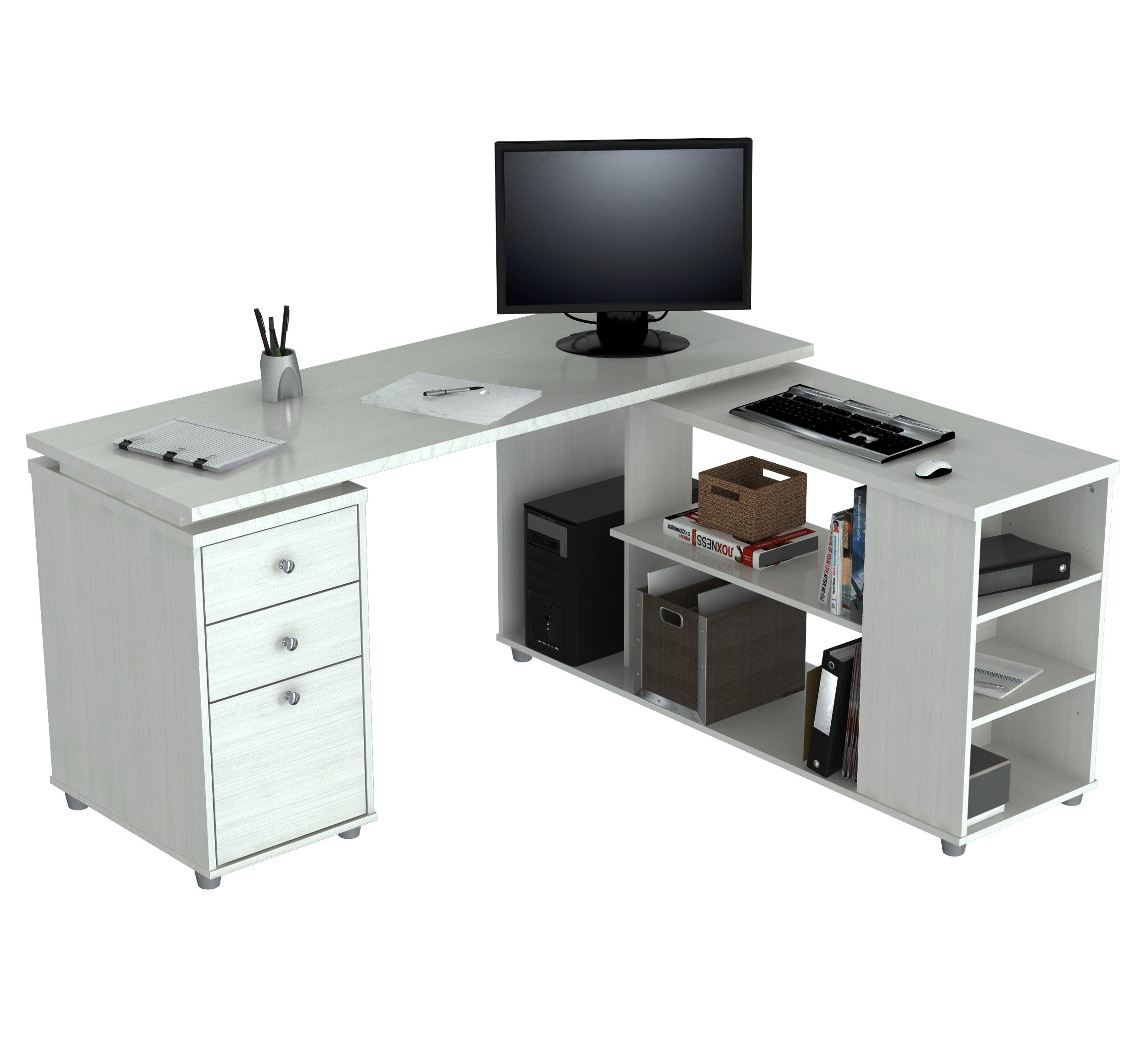 Inval America ''L'' Shaped Computer Work Station