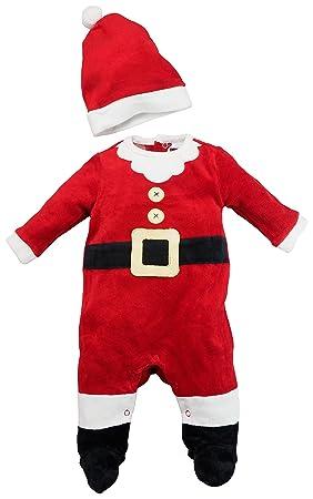 08c4dd2e361e8 Costume dors bien bébé déguisement en velours avec bonnet - Père Noël T. 62