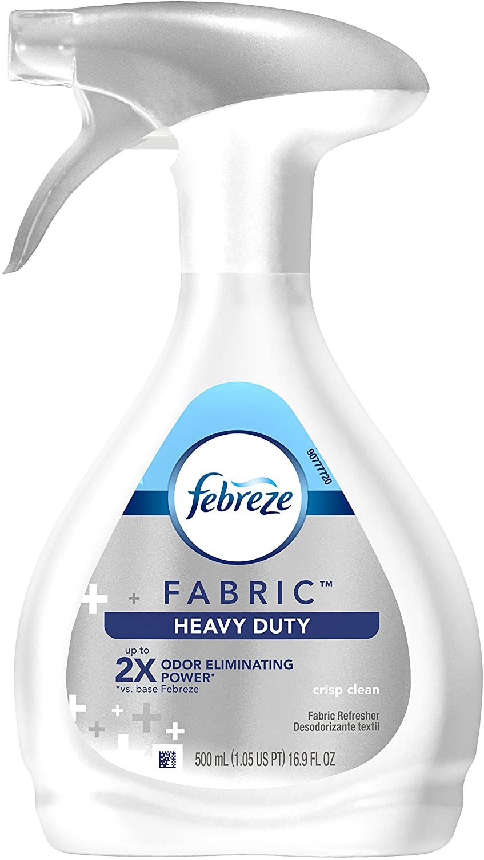 Febreze Fabric Refresher Heavy Duty Crisp Clean Air Freshener (1 Count, 500 Ml)