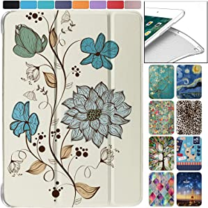 "DuraSafe Cases for iPad PRO/Air - 10.5"" MQDX2LL/A MQDT2LL/A MQDW2LL/A MUUL2LL/A MUUK2LL/A MUUJ2LL/A Ultra Slim Energy Saving Printed Case with Adjustable Stand and Sleek Design - Watercolor Flowers"
