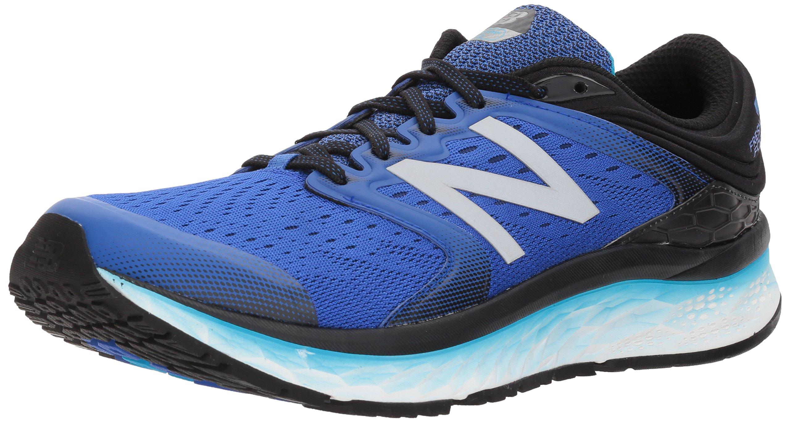 New Balance Men's 1080v8 Fresh Foam Running Shoe, Pacific/Black, 13 2E US