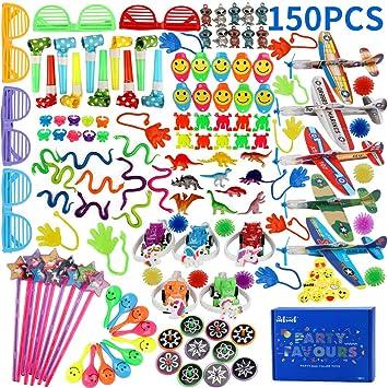 nicknack Rellenos de piñata para niños, Fiesta de cumpleaños de 150 Piezas Loot Bag Filler Juguete para Fiesta de niños, Juegos de Juguetes de Juegos ...