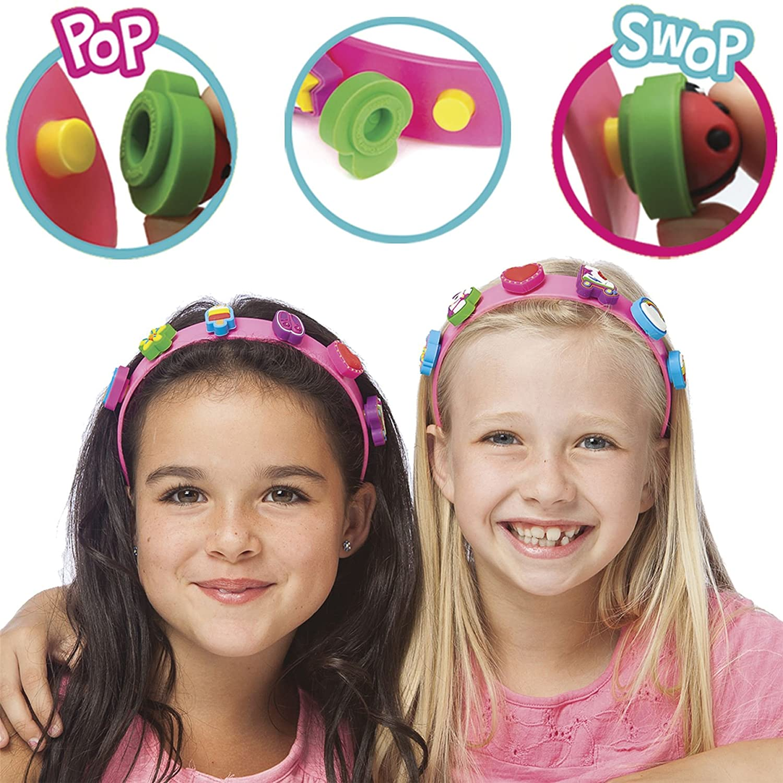 boppiband Collectible Pop /& Swop Charm Headband Hairband with 6 Charms
