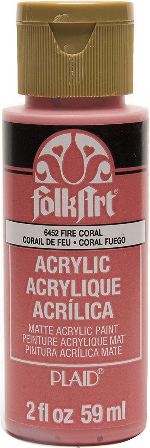 FolkArt Acrylic Paint in Assorted Colors (2 oz), , Fire Coral