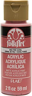 product image for FolkArt Acrylic Paint in Assorted Colors (2 oz), , Fire Coral