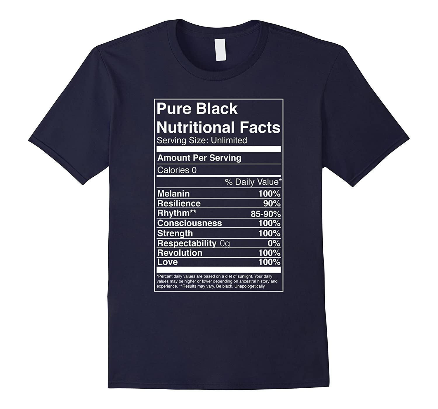 Pure Black Nutritional Facts - Pure Black T-Shirt-CD