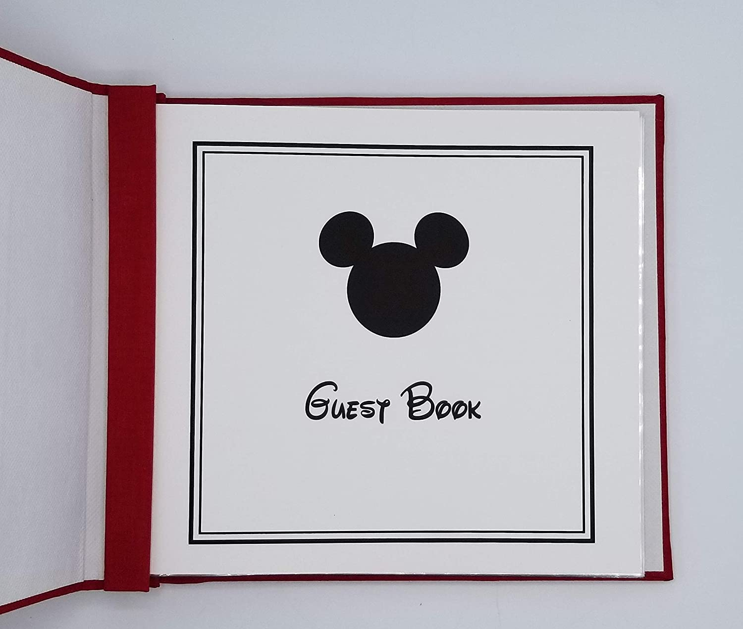 Red Mickey Guest Book and Memory Book