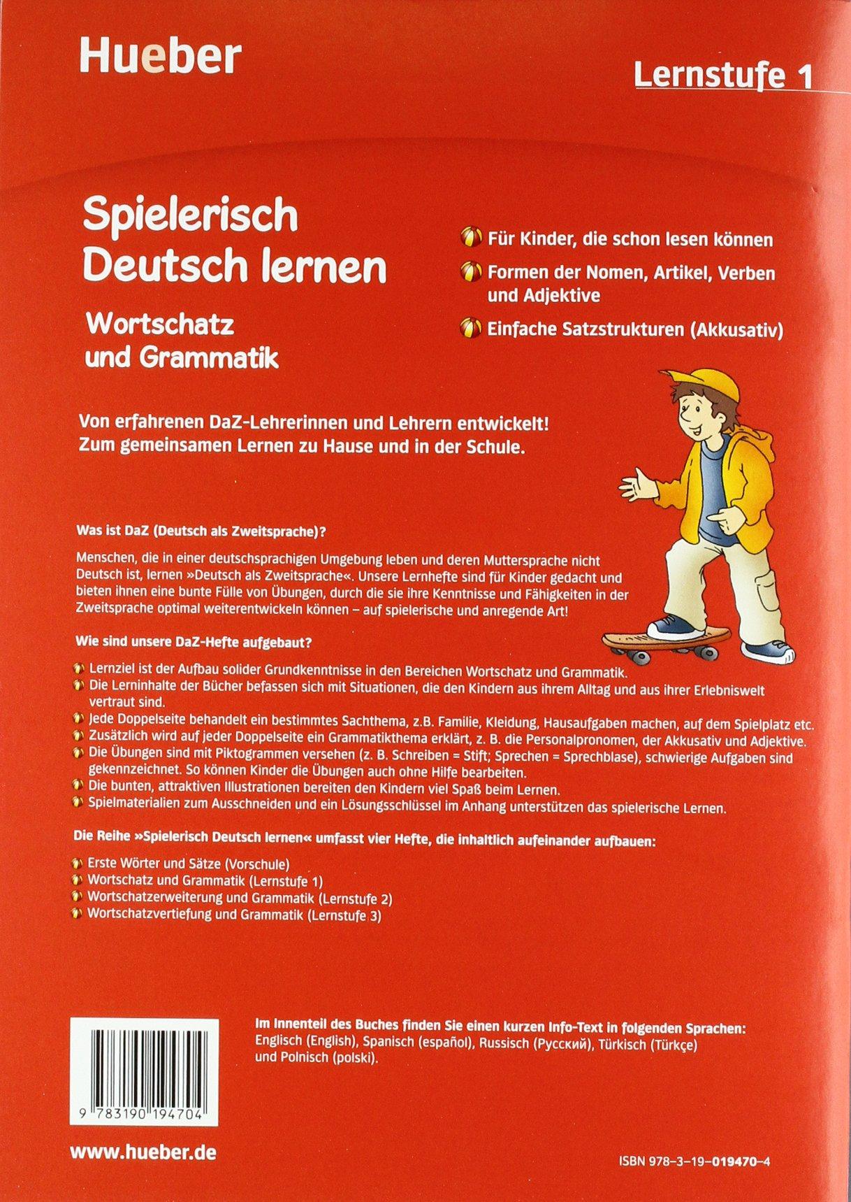 Spielerisch Deutsch lernen: Lernstufe 1 - Wortschatz und Grammatik ...