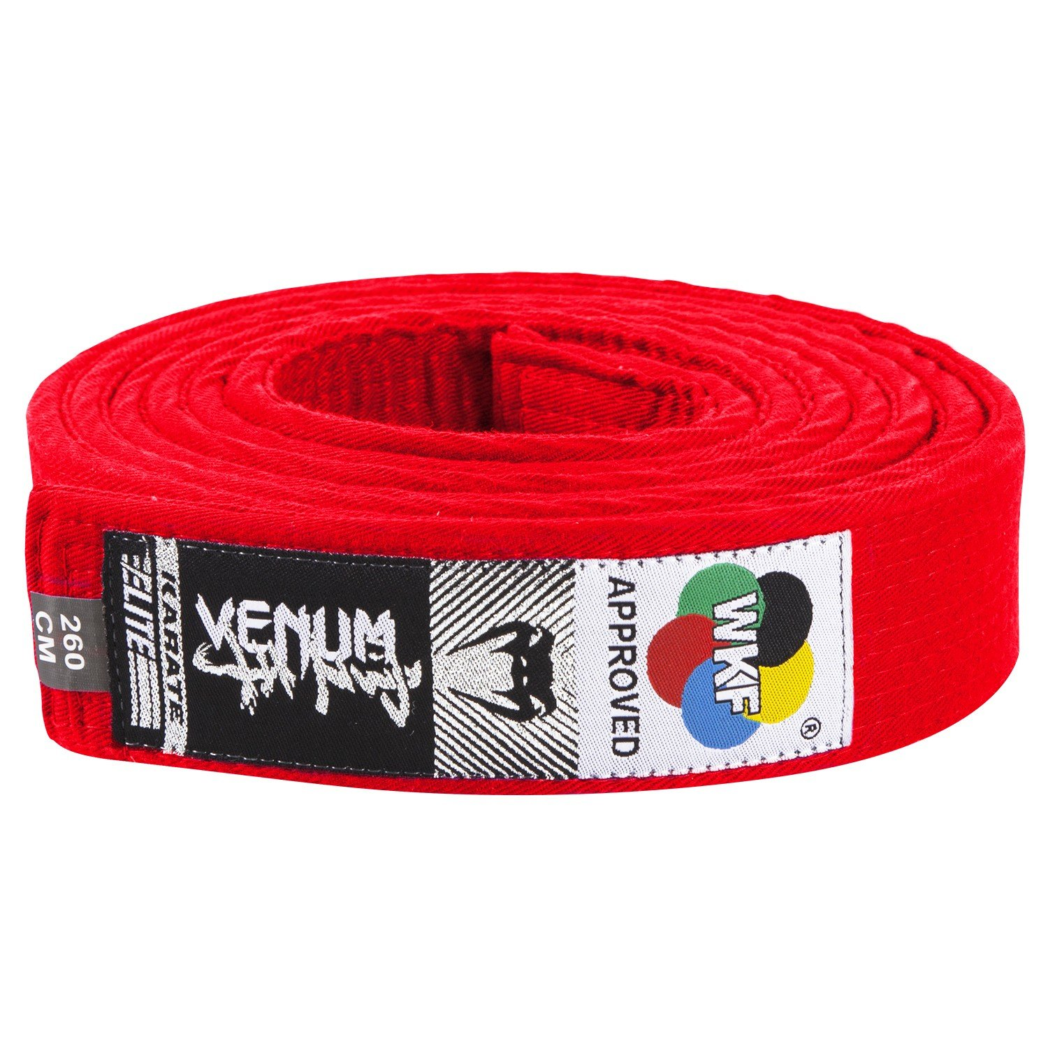 Venum Karate Belt - Cinturón de Karate, Color Rojo, 260 cm US-VENUM-1308