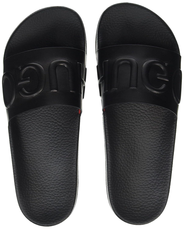 HUGO Herren Timeout_Slip_lt Pantoletten Schwarz (Black) Billig und erschwinglich Im Verkauf