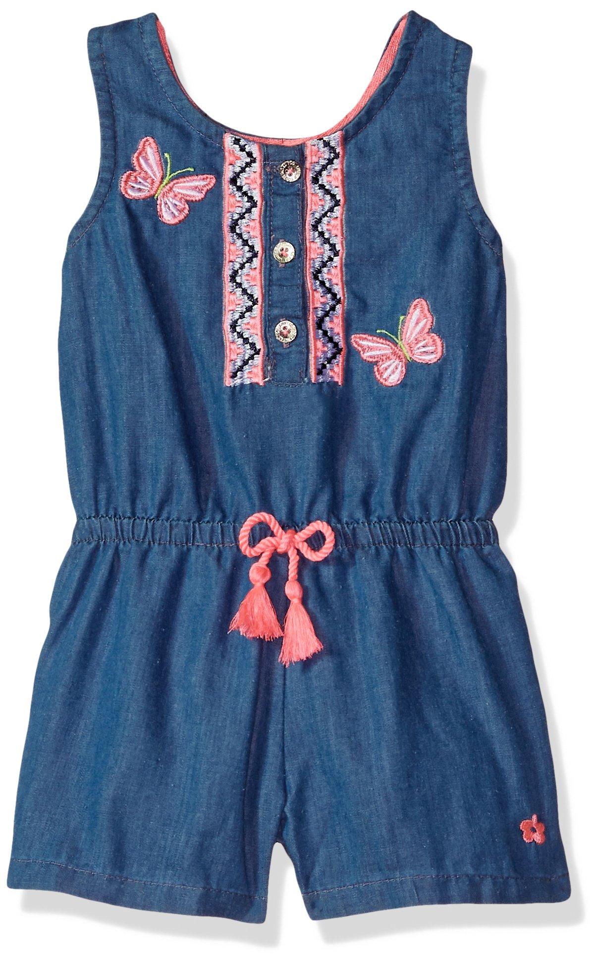 Limited Too Girls' Toddler Romper, Butterflies Medium Blue wash, 2T
