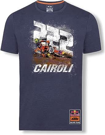 Red Bull KTM Antonio Cairoli 222 T-Camisa, Azul Hombres Camisa Manga Larga, KTM Factory Racing Original Ropa & Accesorios