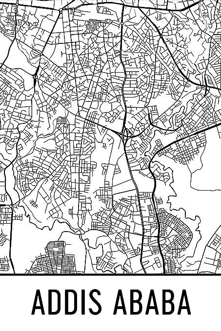 Addis Ababa Print, Addis Ababa Art, Addis Ababa Map, Addis Ababa ET ...