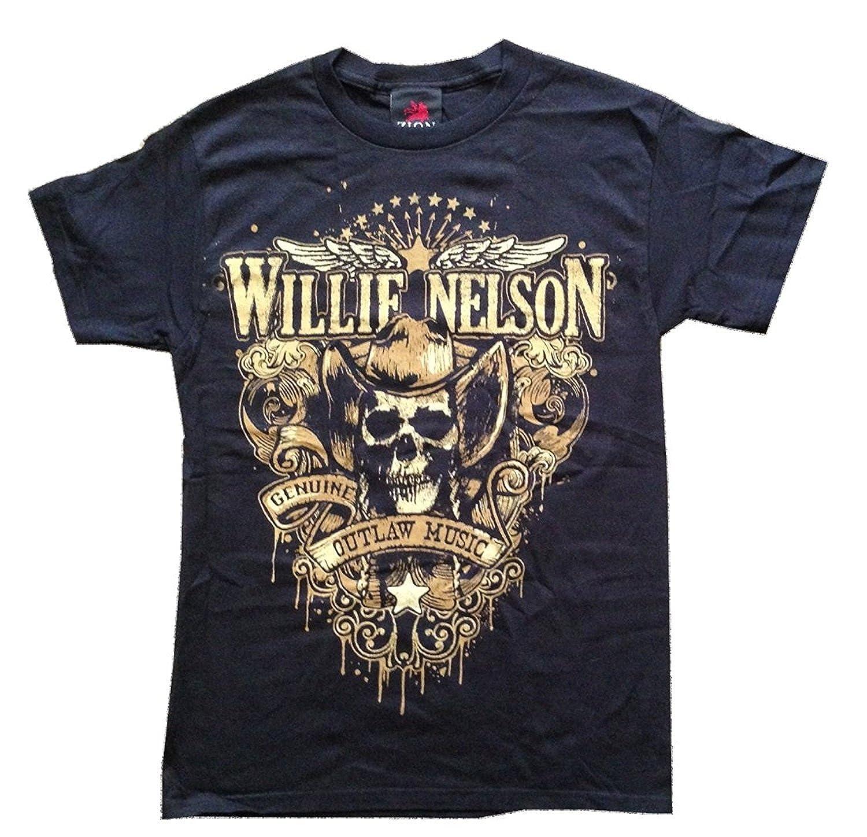 bdb94e01 Amazon.com: Sun-Tshirt Willie Nelson Outlaw Music Funny T-Shirt: Clothing