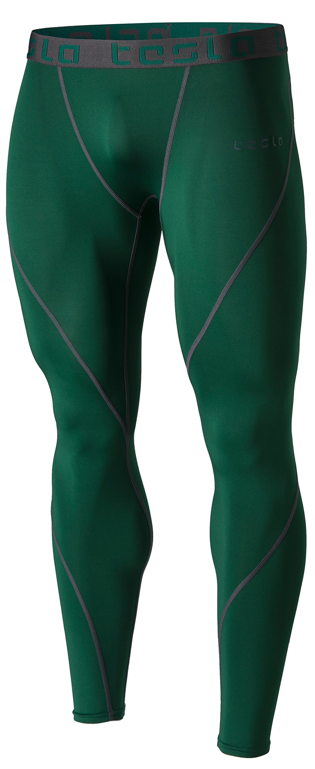 TSLA Men's (Pack of 1) Compression Pants Running