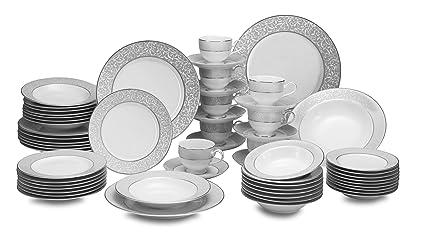 Mikasa Parchment 58-Piece Dinnerware Set Service for 8  sc 1 st  Amazon.com & Amazon.com | Mikasa Parchment 58-Piece Dinnerware Set Service for 8 ...