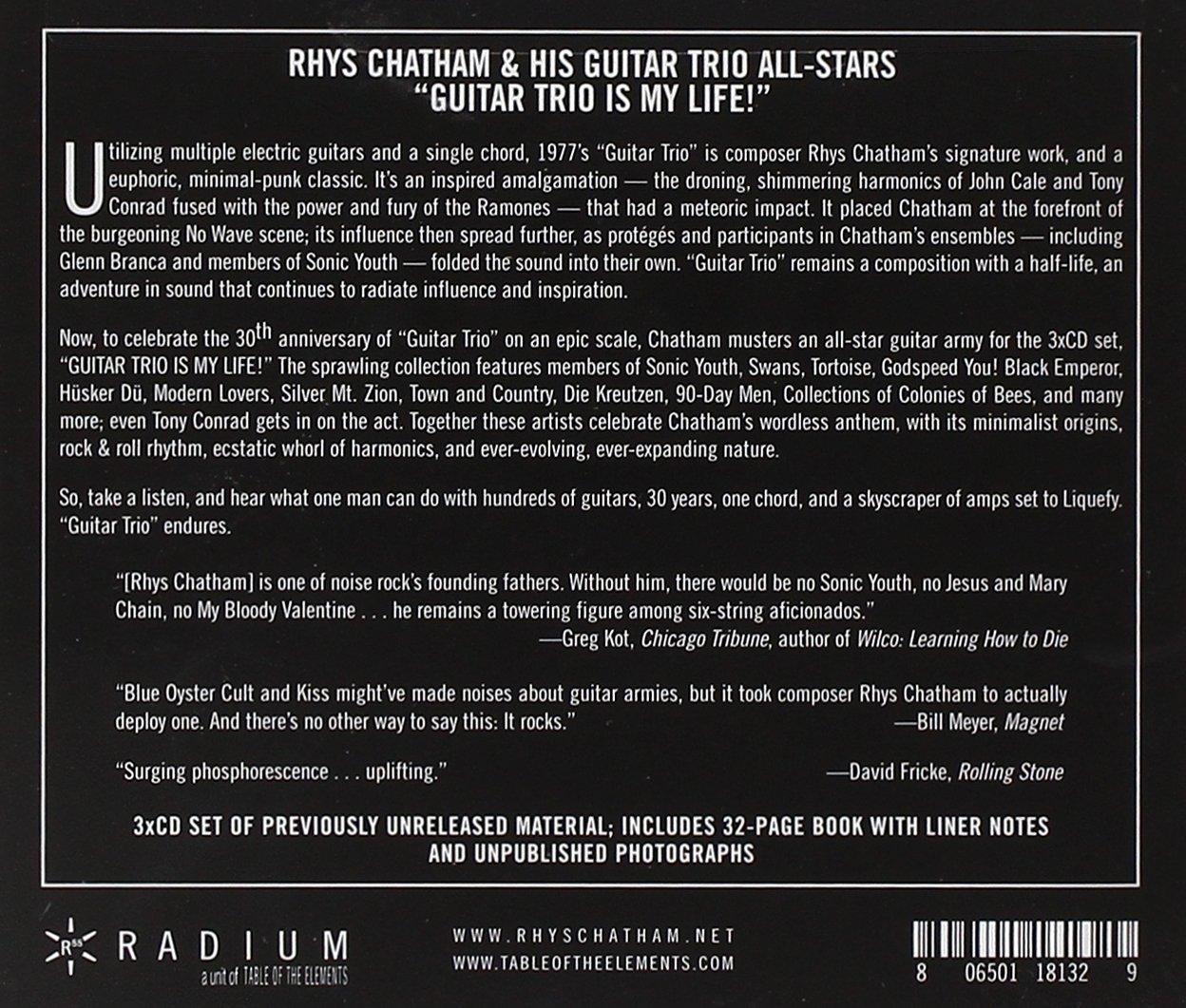 Rhys Chatham Guitar Trio Is My Life Amazon Music