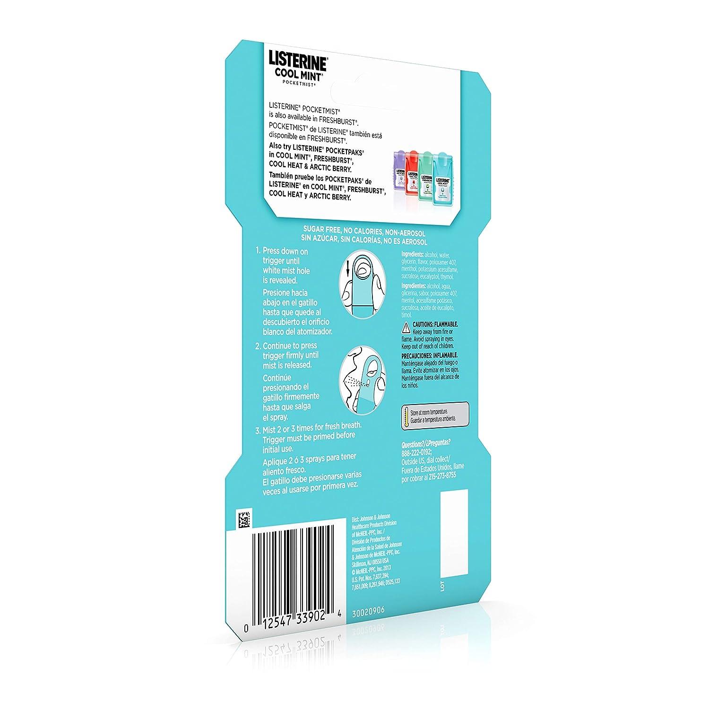 Amazon.com : Listerine Pocketmist Cool Mint Oral Care Mist to Get Rid Of Bad Breath, 2 Pack : Breath Sprays : Beauty