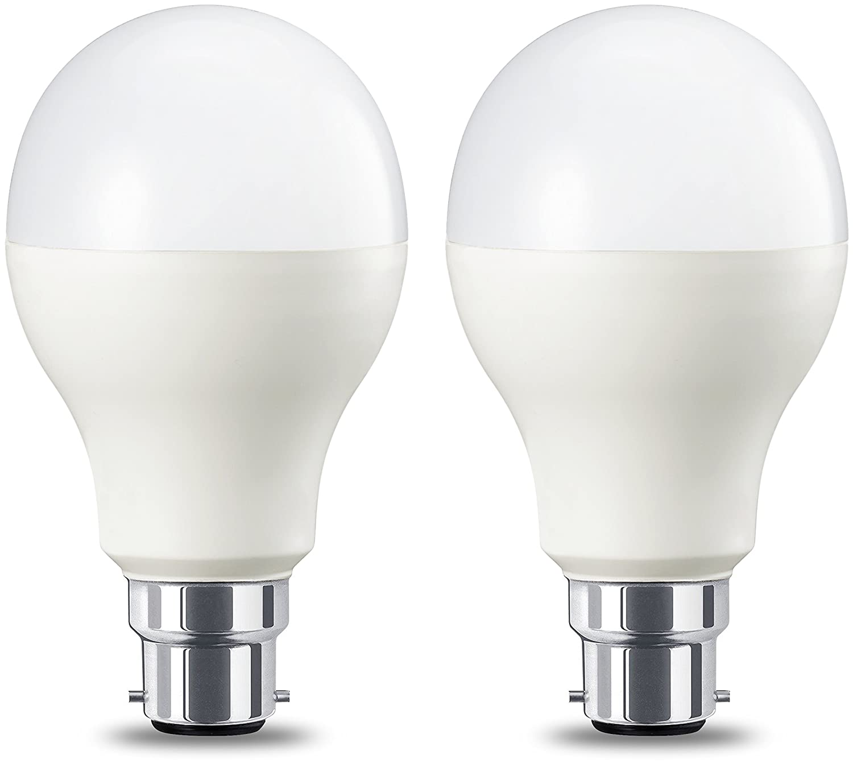Basics Ampoule LED à baïonnette B22 A60, 10.5W (équivalent ampoule incandescente de 75W), blanc chaud - Lot de 2 10.5W (équivalent ampoule incandescente de 75W) 75W A60 B22 WW FR ND 2PK NEW