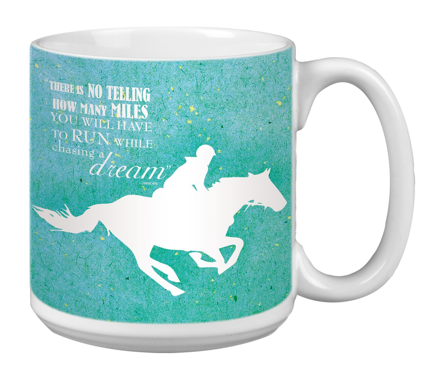 XM29823 Tree-Free Greetings Extra Large 20-Ounce Ceramic Coffee Mug Chasing A Dream Themed Inspriational Quote Art