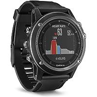 Garmin Fēnix 3 Sapphire Gray HR - Montre GPS Multisports Outdoor Cardio Poignet - Bracelet Noir