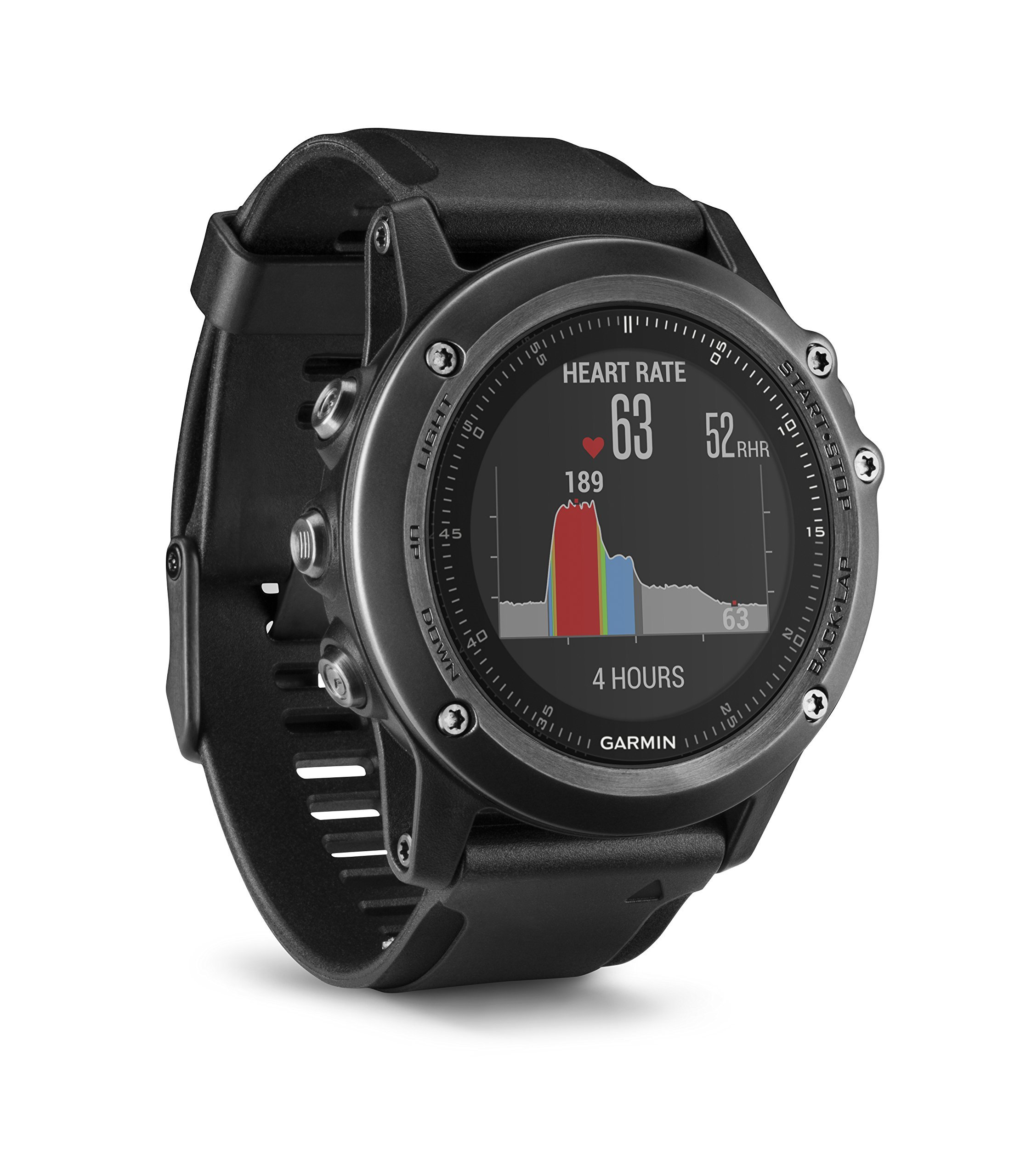 Garmin Fenix 3 Sapphire HR Smartwatch GPS, Nero/Grigio product image