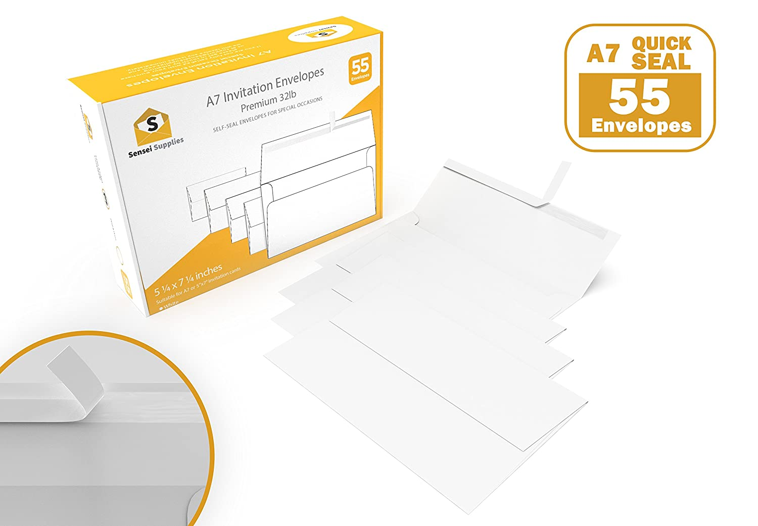 Amazon white invitation 5 x 7 envelopes for 5x7 cards a7 amazon white invitation 5 x 7 envelopes for 5x7 cards a7 5 x 7 inches perfect for weddings graduation baby shower 120 gsm peel stopboris Image collections