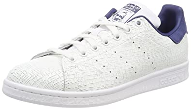 0cb3238175f419 adidas Stan Smith, Baskets Femme, Blanc Footwear White/Noble Indigo 0, 36