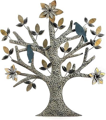 Bellaa 23974 Tree of Life Metal Wall Art Hanging Garden 32 inch