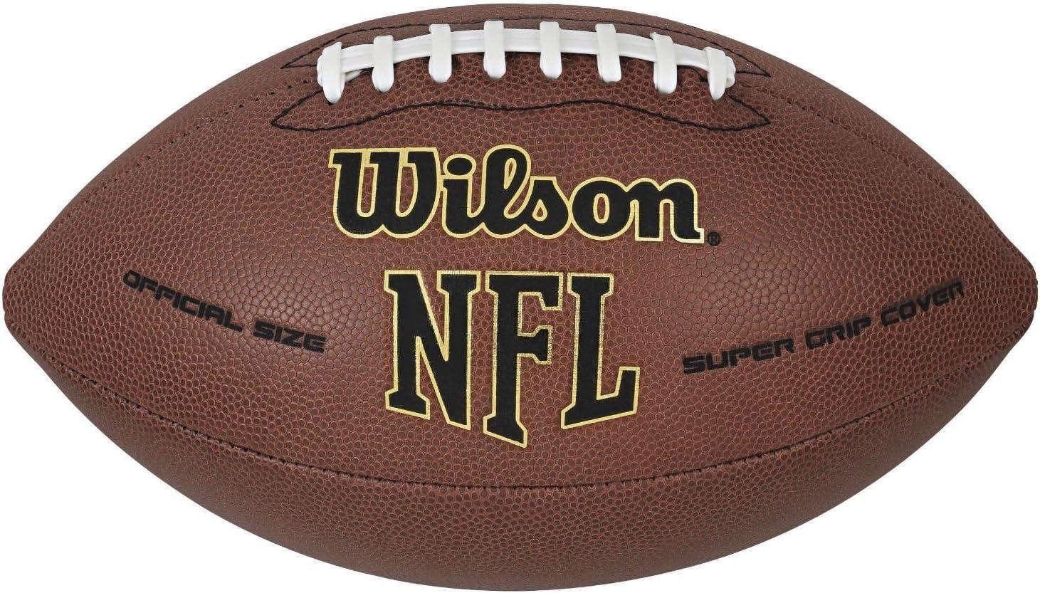 ウィルソン公式NFLフットボールボールスーパーグリップレザー合成サイズ9ゲームKLDS