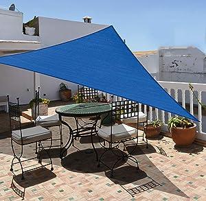 Garden EXPERT 20'x20'x20' Sun Shade Sail Triangle Canopy Shade Cover UV Block for Patio Garden Outdoor Backyard, Blue
